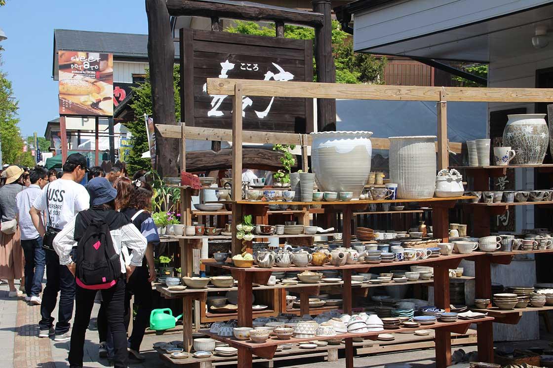 昨年の陶器市の様子