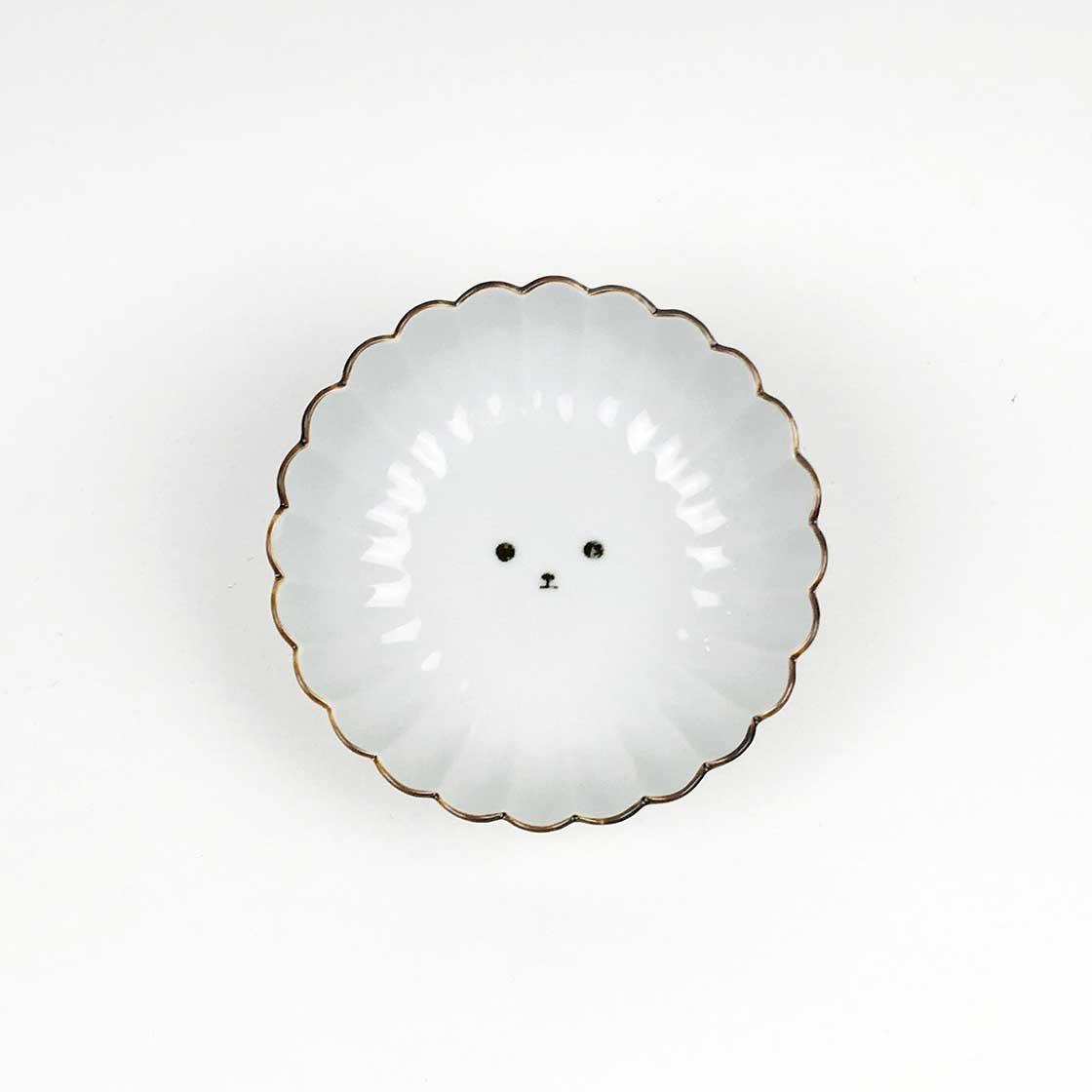 「菊割小鉢 白狗」
