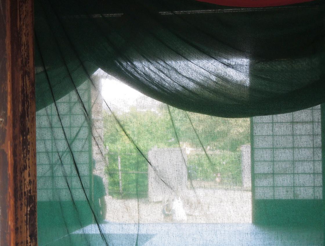 蚊帳のある夏の風景