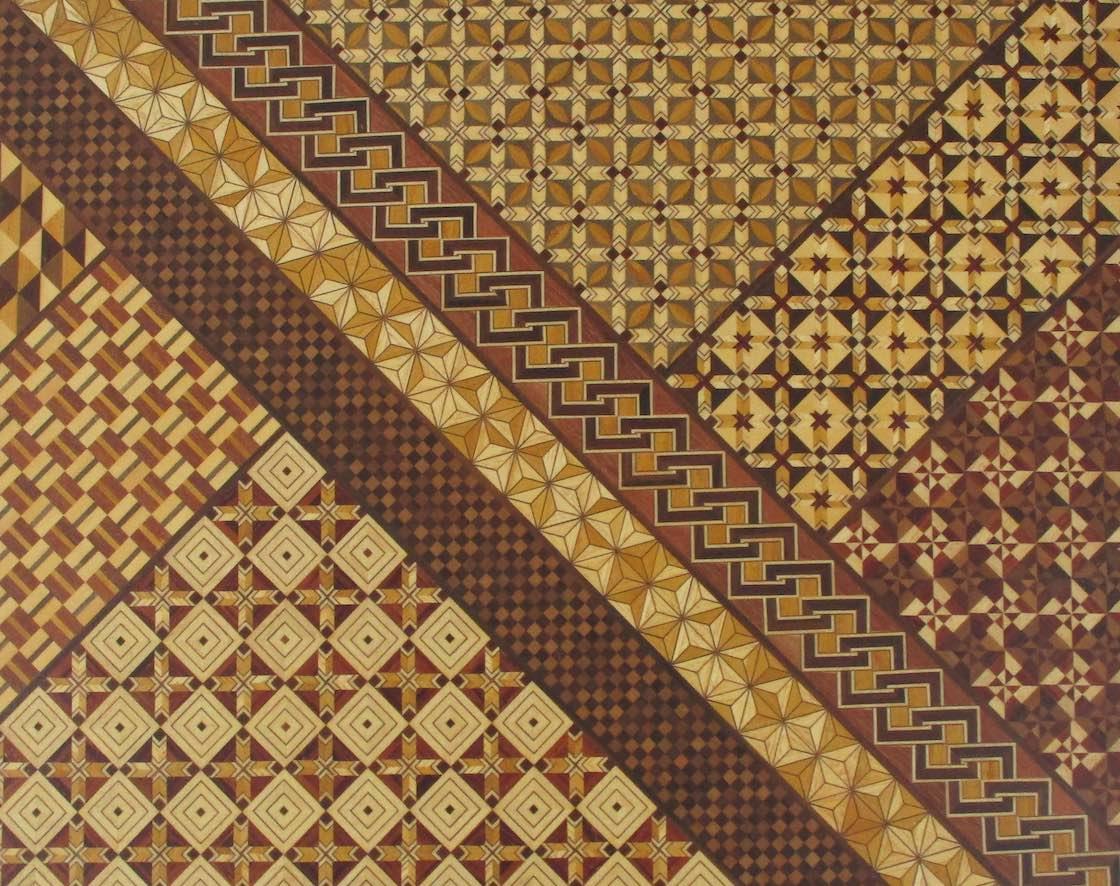 箱根寄木細工の幾何学模様