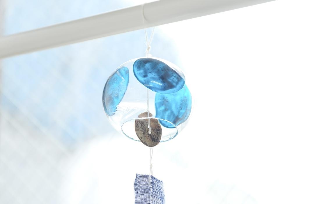 「江戸硝子」の風鈴は涼やかな外見と音が特徴
