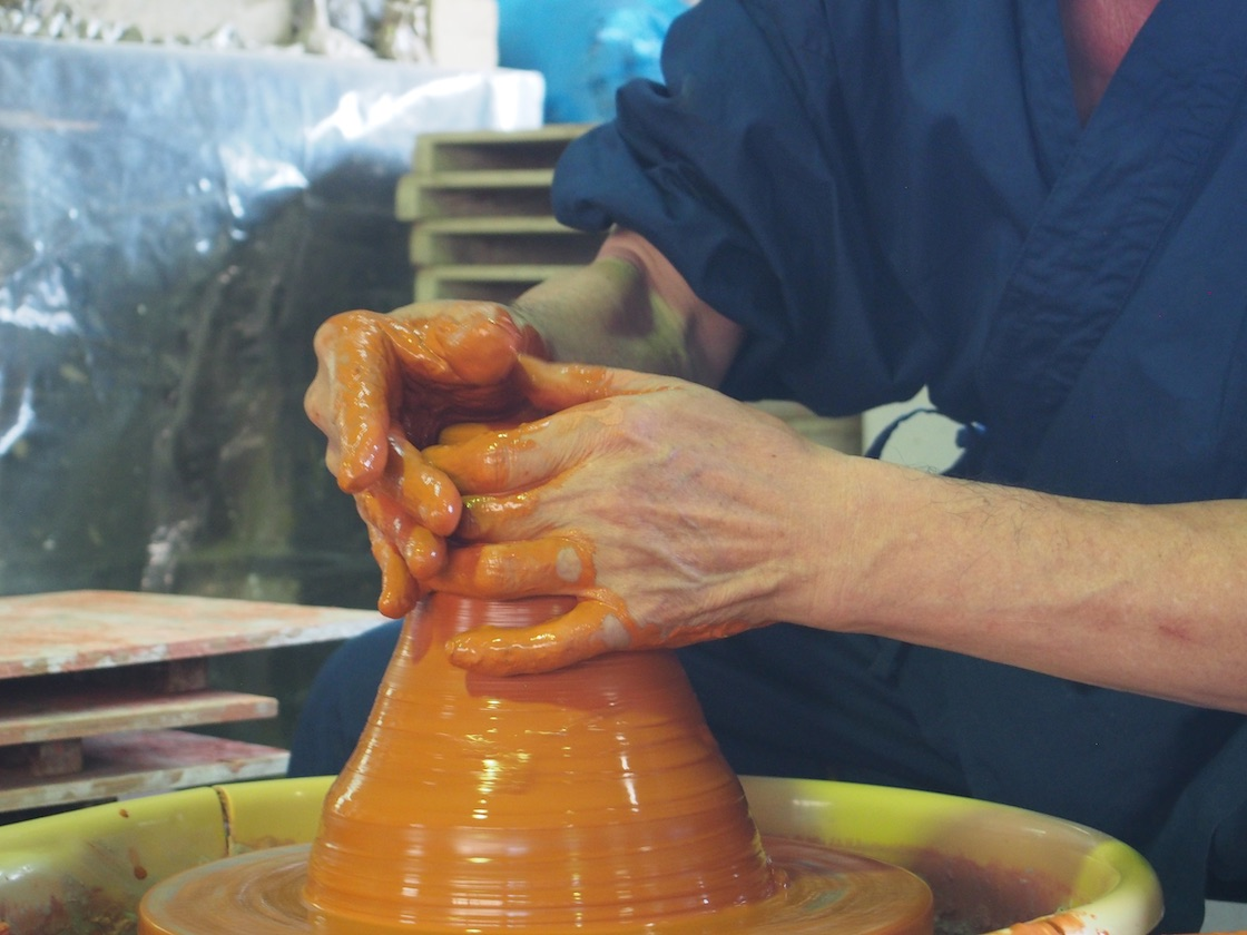 常滑焼が作られる、製造の様子