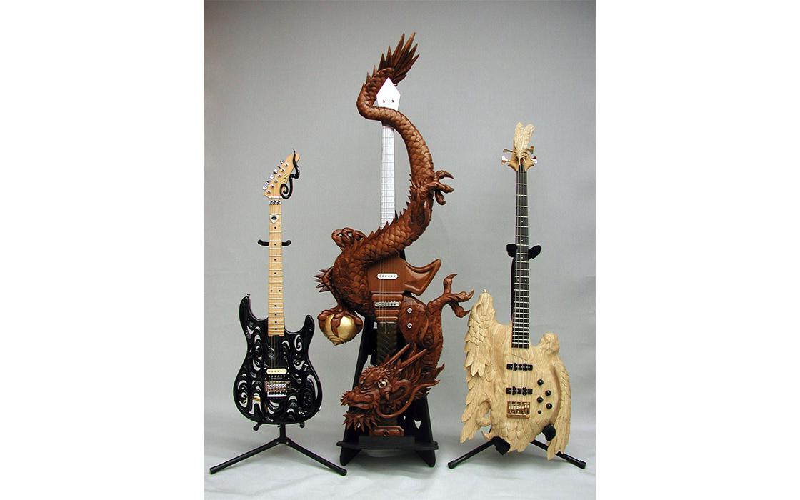 井波彫刻とギターのコラボレーション