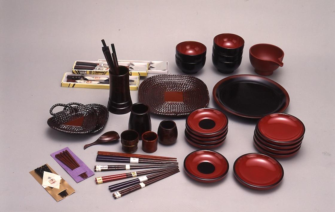 木曽漆器の日常雑器各種