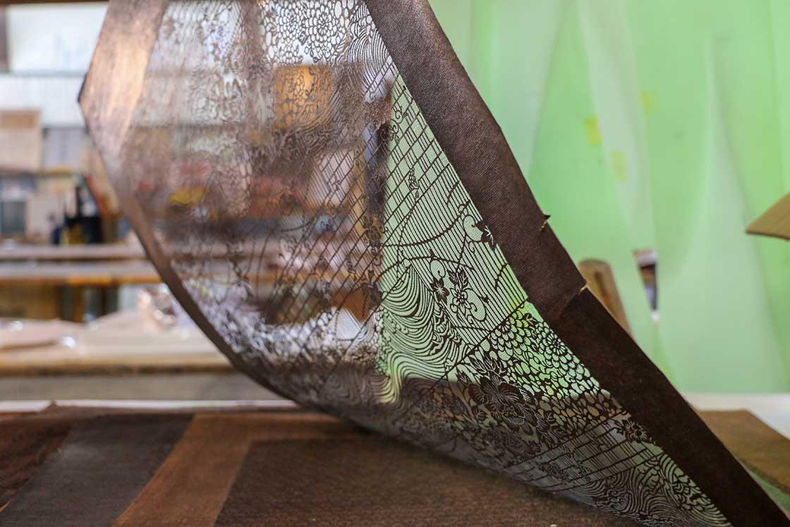 繊細な模様が施された江戸小紋