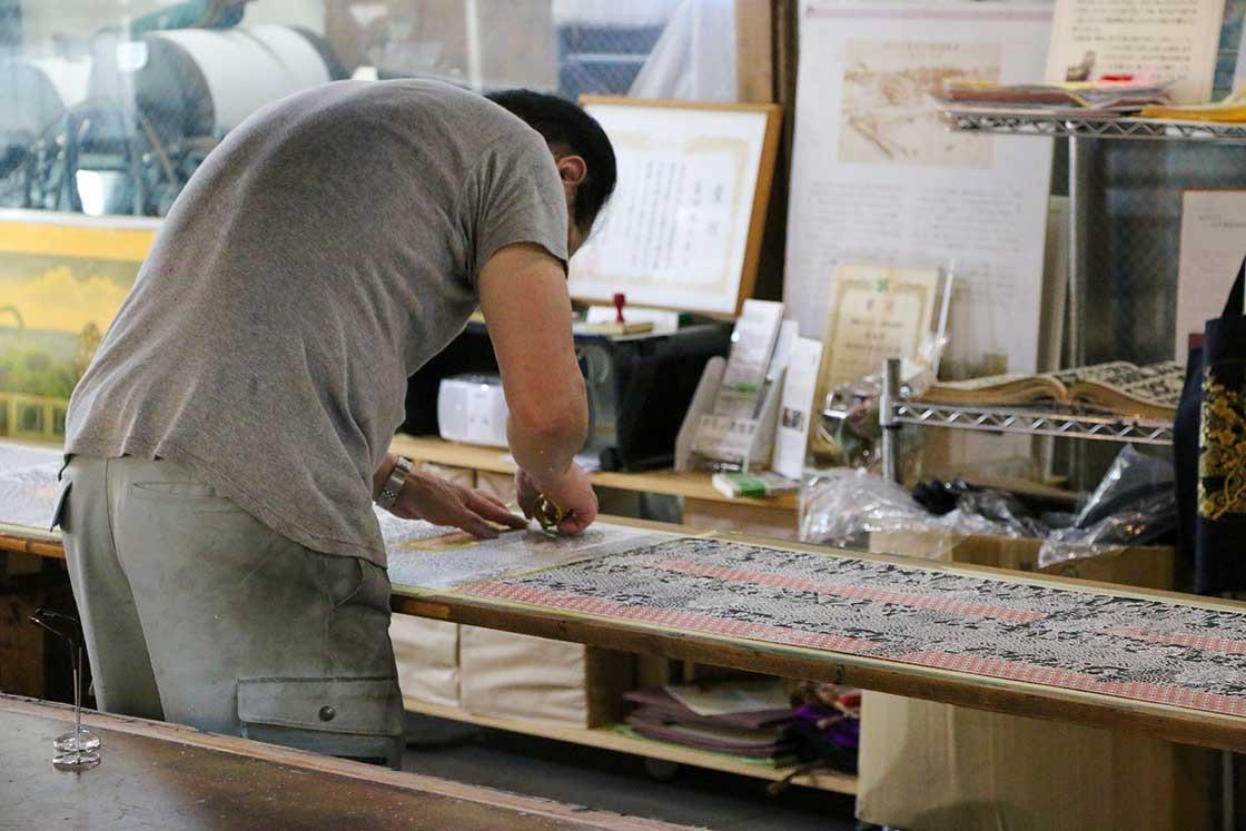 江戸小紋の製作工程の様子