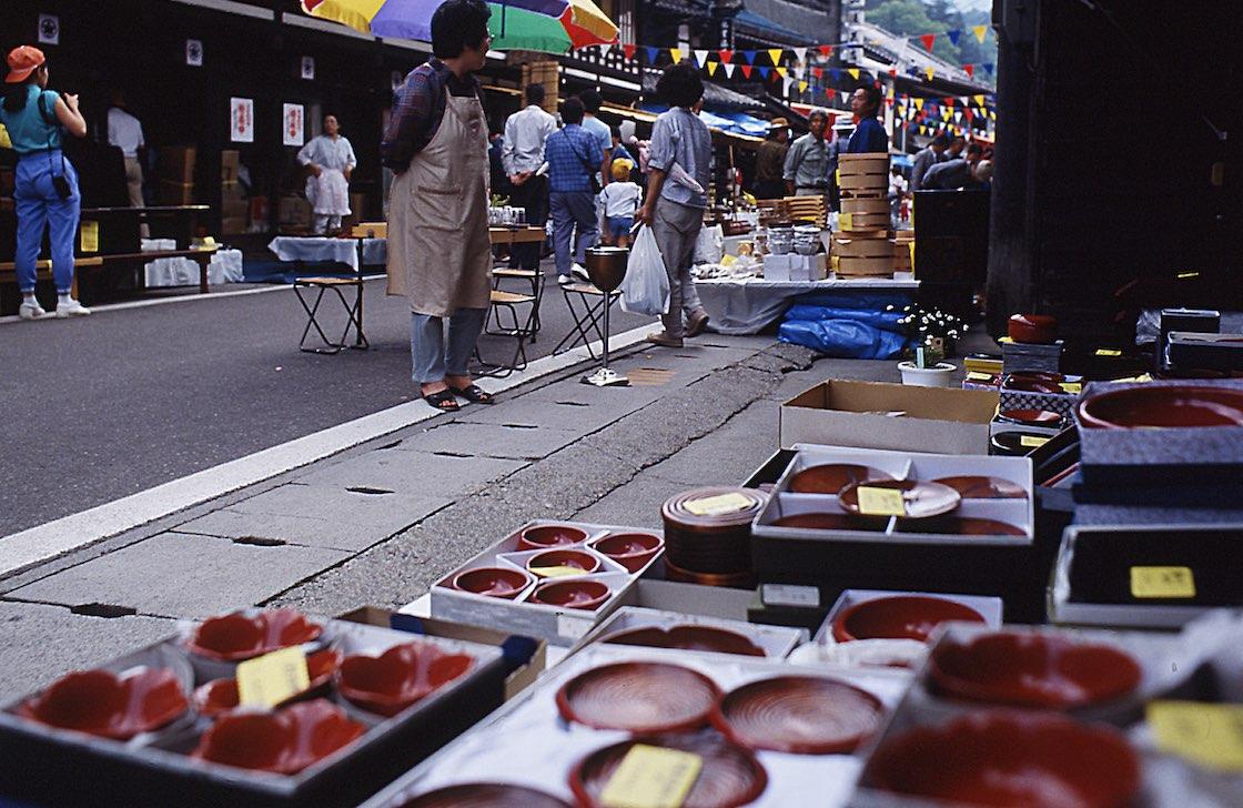 木曽漆器祭の風景