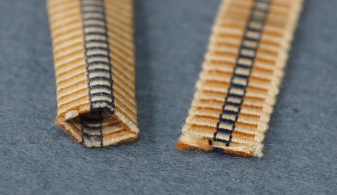 袋織と単衣の真田紐
