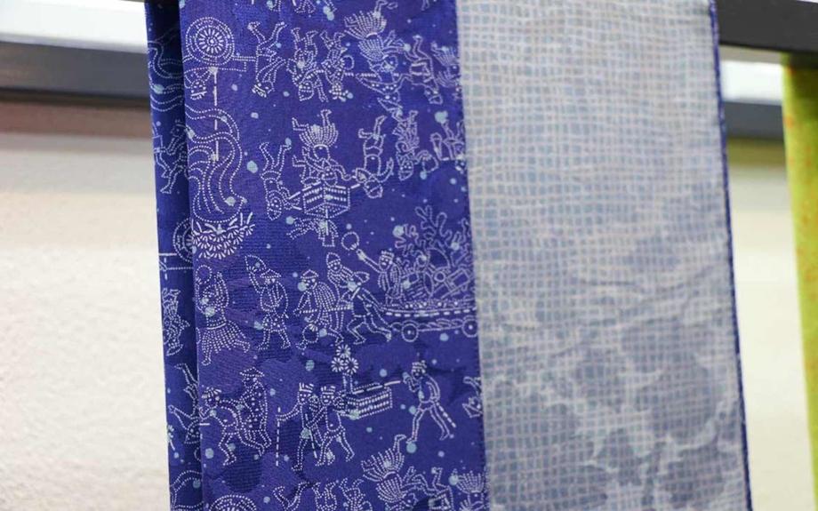 江戸小紋のスカーフ