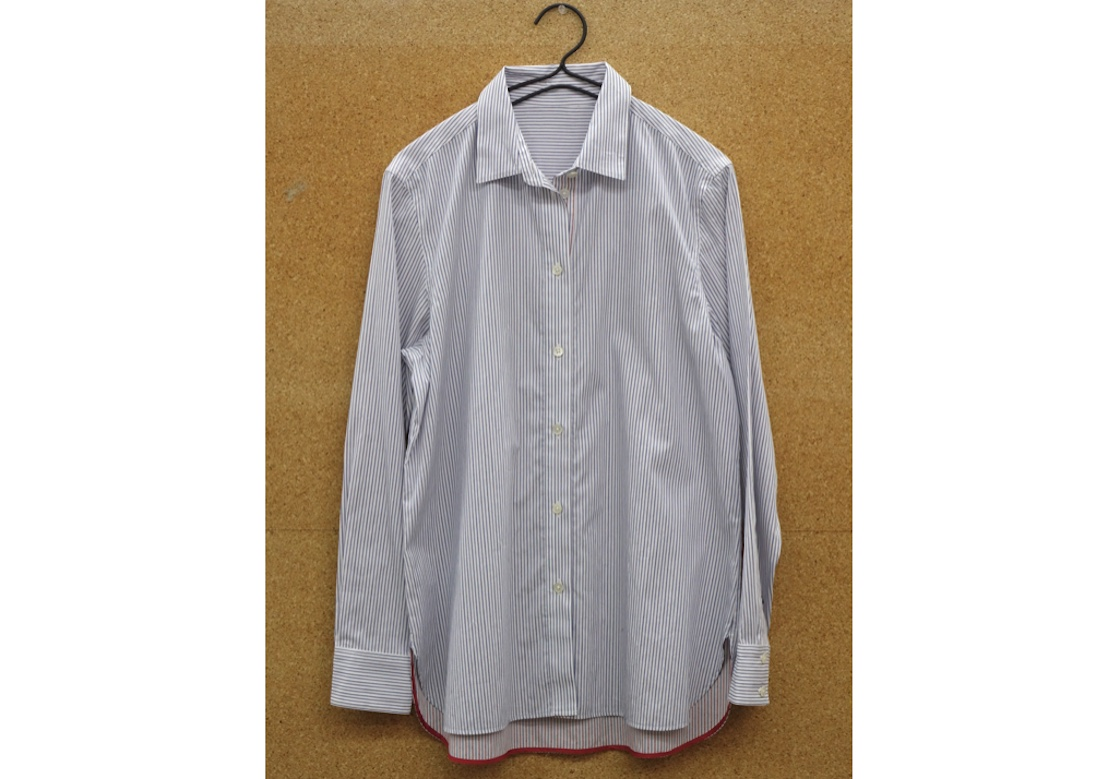 播州織のシャツ