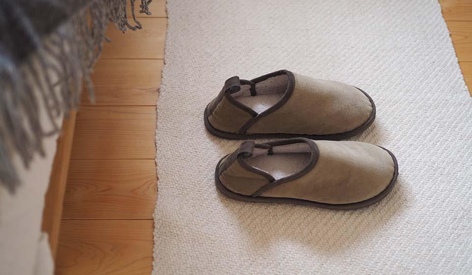 【わたしの好きなもの】発熱綿の室内履き