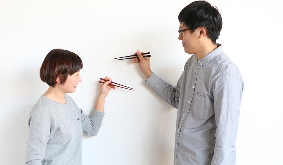 拭き漆のお箸