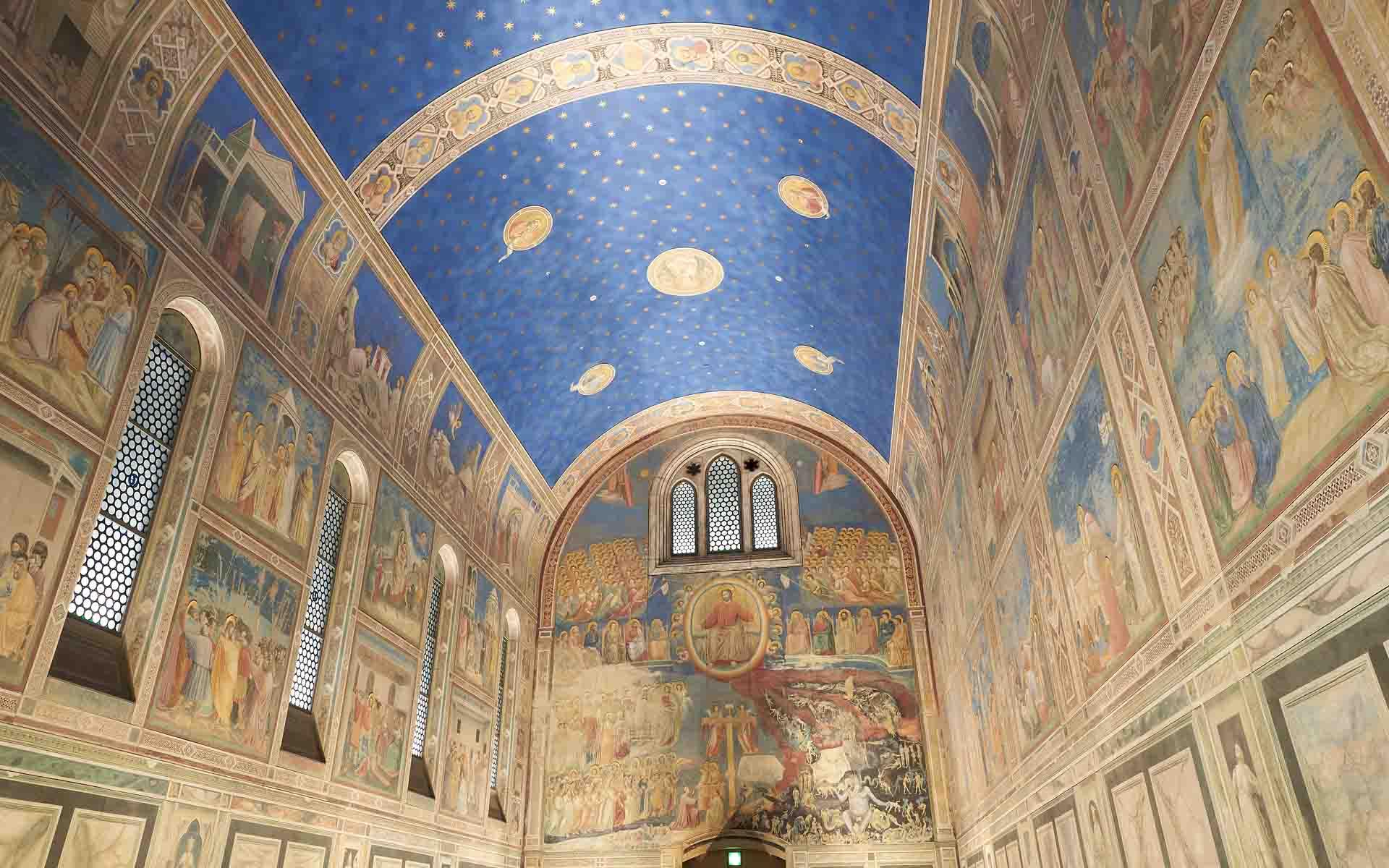 大塚国際美術館に展示されているスクロヴェーニ礼拝堂の陶板レプリカ